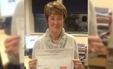 Local SEND lead Annette Parr making her pledge to participation